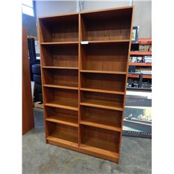 6 FOOT 6 INCH LARGE TEAK BOOK SHELF