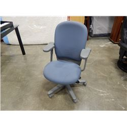 BLUE GAS LIFT OFFICE CHAIR W/ LUMBER SUPPORT