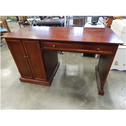 MAHOGANY 2 DOOR SINGLE PEDESTAL DESK