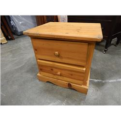 PINE 2 DRAWER NIGHTSTAND