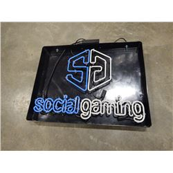 SOCIAL GAMING NEON LIGHT - TESTED AND WORKING