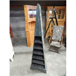 AZTEC STYLE TRIANGULAR CD RACK