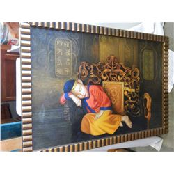 EASTERN PAINTING ON CANVAS