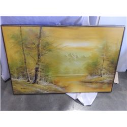 CANTREL OIL PAINTING ON CANVAS