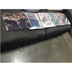 COLLECTION OF BEATLES RECORDS AND PICTURE