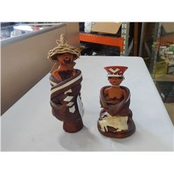 2 TRIBAL AFRICAN STATUES