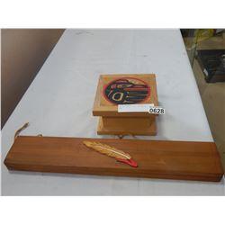 NATIVE SPIRIT BOX AND KNIFE BOX
