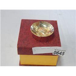 "24K GOLD PLATED ""RAT"" DISH W/ BOX"