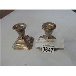 PAIR OF STERLING CANDLE HOLDERS