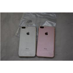 2 APPLE IPHONE 7 PLUS GREY, ROSE GOLD,PARTS ONLY, NOT GURANTEED TO WORK, MAY BE LOCKED