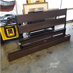 QUEENSIZE HEADBOARD, FOOTBOARD AND RAILS - NO HARDWARE