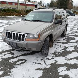 2000 JEEP GRAND CHEROKEE 4DRSW, AUTOMATIC 4X4, 249553KMS WITH 2 KEYS, 2 FOBS, CAR FAX AND REGISTRATI