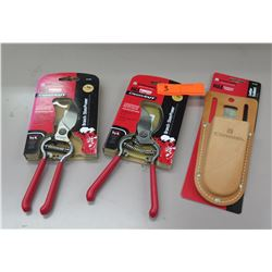 Qty 2 New Classic Cut Branch Pruners & Leather Scabbard