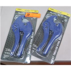 """Qty 2 New Ratchet 1-1/4"""" Poly PVC Pipe Cutters"""