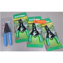 """Qty 3 New Rain Bird Spray Head Pull Up Tools PTC-1 & 6.25"""" Channel Lock No.958"""