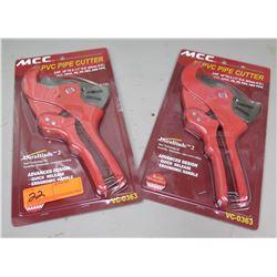 Qty 2 New MCC PVC Pipe Cutters #VC-0363 w/ Durablade 2