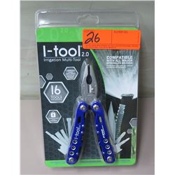 New I-tool 2.0 Irrigation Multi-Tool - 16 Tools in 1 plus Carrying Case