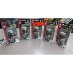 Qty 5 Pkgs New Gardner Benter 4 oz Waterproof Liquid Electrical Tape