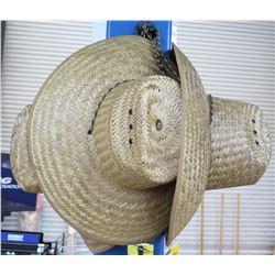 Qty 3 Gulf Coast Headwear Sun Protection Straw Hats