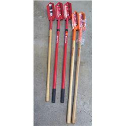 """Qty 5 Corona Heavy Duty 4"""" and 5"""" Trench Shovels 28 Degrees"""
