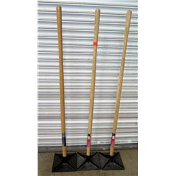 """Qty 3 Max Strength Heavy Duty 10"""" x 10"""" Dirt Tamps"""