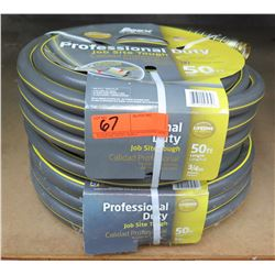 "Qty 2 Apex Professional Duty 50' Length x 3/4"" Diameter Hoses"