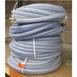 "Qty 4 Underhill Clear Hose 100' Length x 3/4"" Diameter"