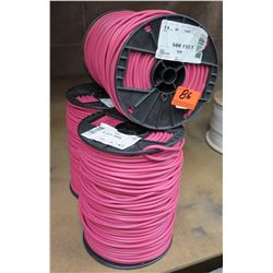 Qty 3 Spools RoHS Solid 14 AWG UF-TWC Red 500' Cable 14UF21