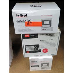 Qty 2 Irritrol Junior DC 1 Station Irrigation & TORO DDC WP Residential Controllers
