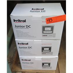 Qty 3 Irritrol Junior DC 1 Station Irrigation Controllers
