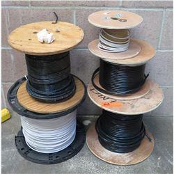 Qty 5 Partial Spools White & Black Conduit Cable