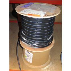 Qty 2 Wood Spools Paige 8AWG 2C LoVo Cable Black 30V & 8/2 LV Landscape Lighting 30V