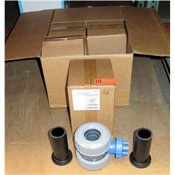 Qty 6 Slo-Close Tub-V PVC/EPDM HDPE Ends V20101HD-SC