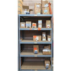 Metal-Framed Shelving (2ft x 4ft x 7ft) & Contents: LASCO Fittings Service Tees, Adapters, Elbows, C