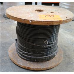 Partial Wood Spool Wire 8/2 -50 Black 350'