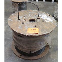 Partial Wood Spool Cable THHN-6_Black 2500' T-90 Nylon