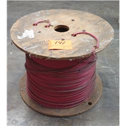 Partial Wood Spool Cable THHN-6_Red