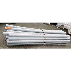 """Bundle 10' Long 5"""" & 4.5"""" Diameter PVC Pipe, Strapped"""