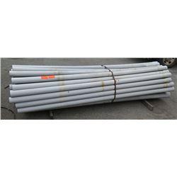 """Bundle 10' Long 4"""" & 4.5"""" Diameter PVC Pipe, Strapped"""