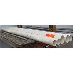 Qty 5 White 10' Long x Misc Diameter Cresline PVC DS 3000 Pound
