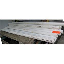 Qty 11 Misc Diameter 10' White JM Eagle 12454 PVC Sewer Pipe ASTM D2729
