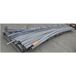 """Multiple Misc Size 20' Long x 0.5-2.5"""" Gray Cresline SCH 80 PVC Pipe"""
