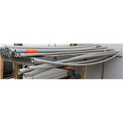 """Multiple Misc Size 10' Long x 1.5-3"""" Gray Cresline SCH 40 Electrical Rigid PVC Pipe"""