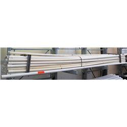 "Multiple Misc 20' Long x 2.5-3"" White Cresline SDR 21 CL 200 PVC Pipe"
