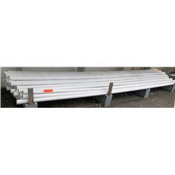 """Multiple Misc  20' Long x 2.5-3"""" White JM Eagle SCH 40 PVC T120 300 PSI Pipe"""