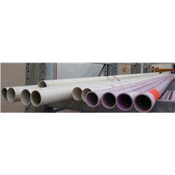 """Qty 11 PVC  20'  Long x 3.5"""" Diameter Pipes"""