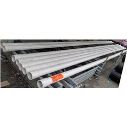 "Qty 8 PVC  20'  Long x 3"" Diameter Cresline DWV SCH 40 ASTM D2665 Pipes"