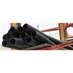 Qty 11 Black  10'  Long Ribbed Flex Hose