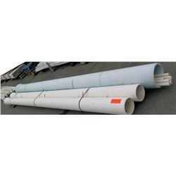 """Qty 3 @ 20' Long x 10-14"""" Diameter Pipes w/ Smaller Pipes Inside"""