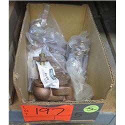 "Qty 3+ Aqualine AS-075 Brass 3/4"" Anti-Siphon Valves w/ Cross Handle"